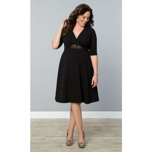 [Kiyonna] Lace Peek A Boo Fit and Flare Dress